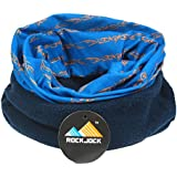 Multifunctional snood for men. Scarf, hat, neck warmer, hood, balaclava with fleece section