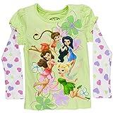 Disney Fairies - Linear Flower Girls Juvy 2fer Long Sleeve T-Shirt