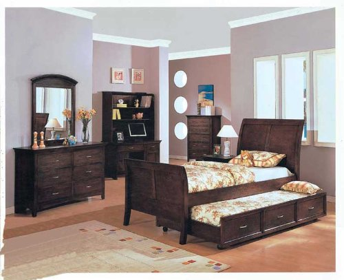 Youth 4pc All Wood Full Size Bedroom Set