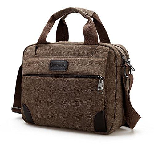 Outreo Borsa Tracolla Uomo Borsello Portadocumenti di Tela vintage per Scuola Università Outdoor Borse da Viaggio Sport Excursions Laptop Messenger Bag