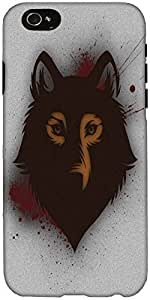 Snoogg Bold wolf Hard Back Case Cover Shield For Apple Iphone 6 S + / 6s Plus