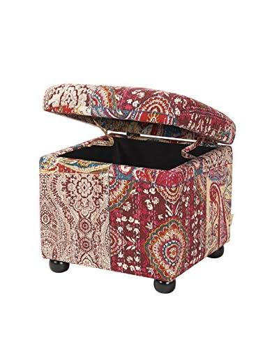 Jennifer Taylor Boho Chic Storage Ottoman, Multi