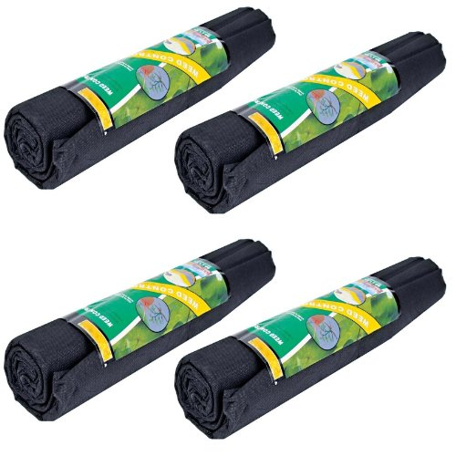 Garden Weed Control Fabric Membrane Ground Sheet Cover Decking Landscaping (4 Rolls)