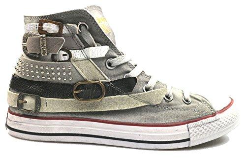 Scarpe uomo HAPPINESS 42 sneakers grigio tessuto camoscio AS789