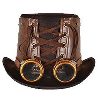 Amazon.com: Steampunk Hat & Goggles (Brown): Costume ...