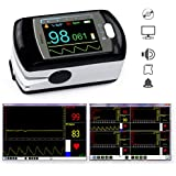 Doigt oxymètre de pouls PULOX PO- 300 OLED * Écran couleur OLED, alarme, signal d'impulsion, batteri