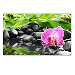 Liili Premium Large Table Mat 28.4 x 17.7 x 0.2 inches spa concept with zen stones and orchid Photo 5532854