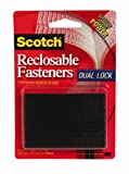 3M Scotch RF9731 Reclosable Fasteners 1 x 3-Inch Black, 6-Pack