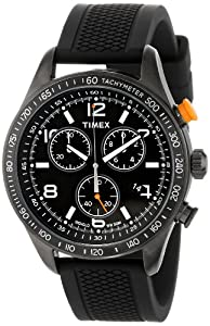 """Timex Men's T2P043KW """"Ameritus"""" Watch with Black Silicone Strap"""