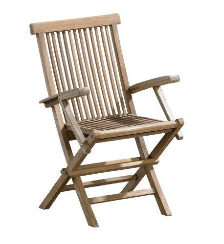 ambientehome 62837 klappstuhl samui mit armlehnen teak. Black Bedroom Furniture Sets. Home Design Ideas
