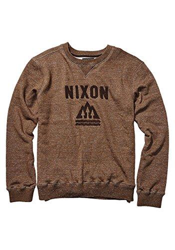 NIXON Muir Crew Walnut heather Fall Winter 16-17 - M