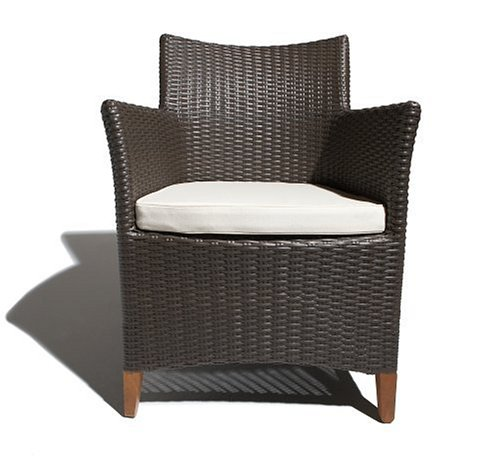 Strathwood Cypress All-Weather Wicker Bistro Chair, Brown