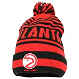 NBA Long Pom Top Fashion Striped Winter Knit Hat - Atlanta Hawks (old)