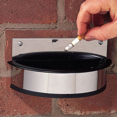 Cigarette ash trays - Wall mounted cigarette ashtray replacements plastic insert.