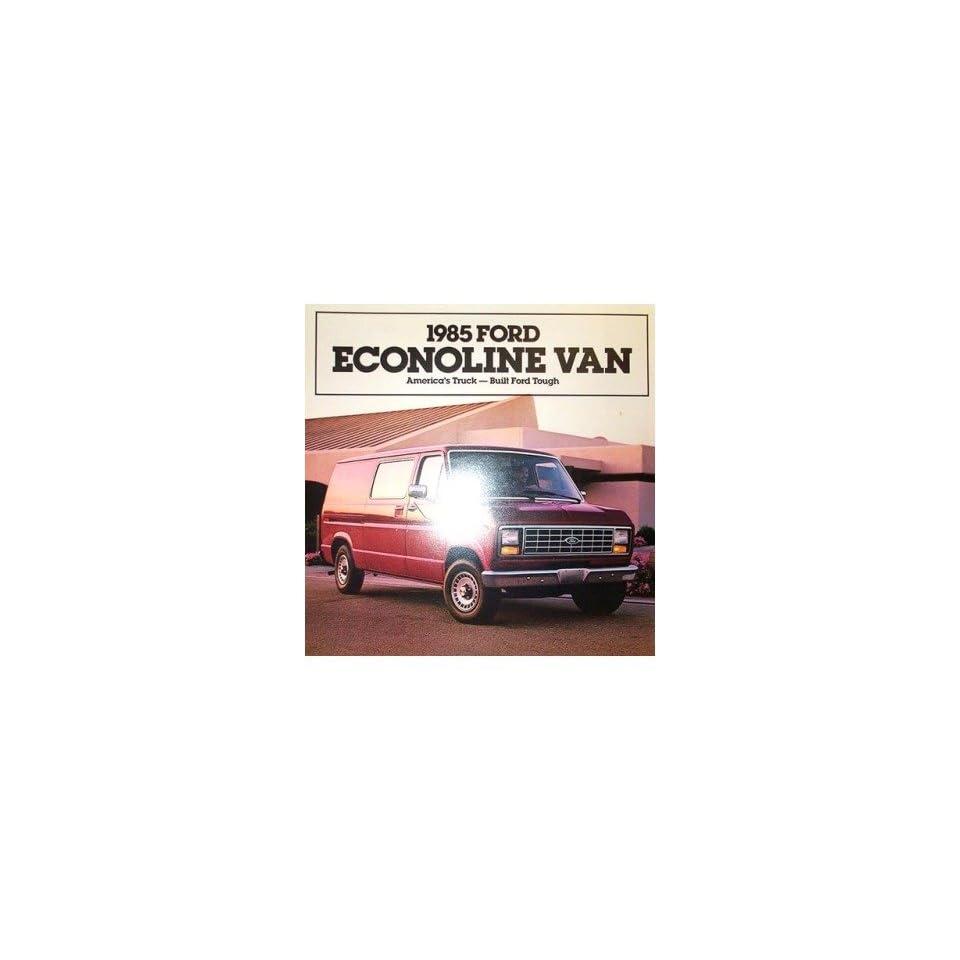 1985 Ford Econoline Sales Brochure Literature Piece Advertisement Specifications
