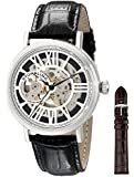 """Stuhrling Original Men's 168S.33151 """"Classic"""" Stainless Steel Automatic Watch with Leather Band"""