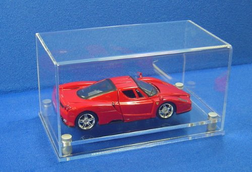 Modern 1:24 Scale Car Display Case with a Black Base