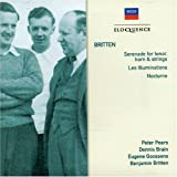 BRITTEN: Serenade for Tenor, Horn & Strings; Les Illuminations; Nocturneby Pears/DennisBrain/NewS...