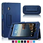 Infiland Folio PU Leather Slim Fit Stand Case Cover for 7inch Verizon Ellipsis 7 4G LTE Tablet,Navy