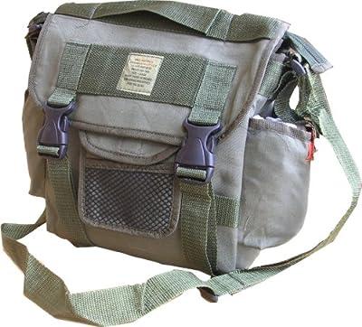 Zip Zap Zooom Mens Army Retro Combat Cargo Canvas Travel Shoulder Bag Messenger Satchel