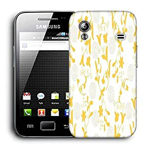 Snoogg Yellow Leaves Printed Protective Phone Back Case Cover For Samsung Galaxy ACE S5830