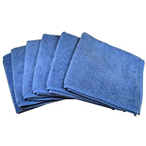 Cables Unlimted ACCFIBER6 Ultra Absorbent Microfiber Cleaning Cloths (6 Pack)