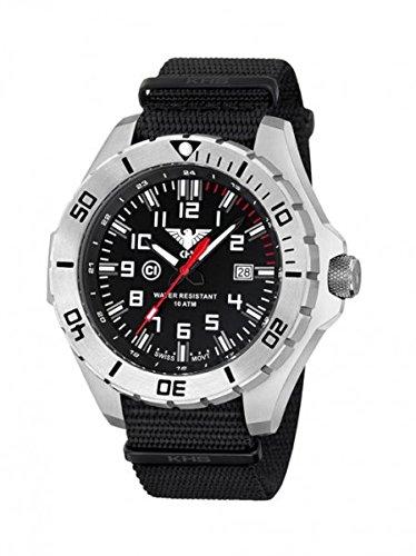 KHS Tactical orologio uomo Landleader Steel KHS.LANS.NB