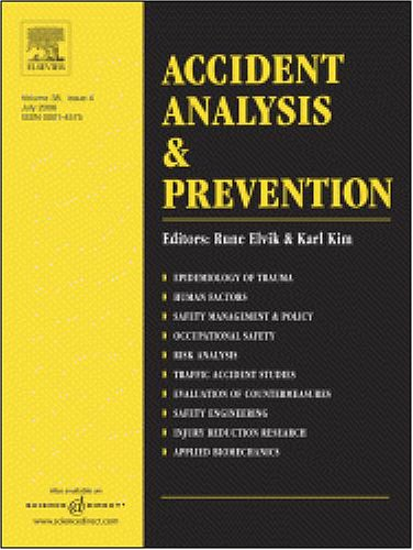The influence of passengers on the risk of the driver causing a car collision in Spain [An article from: Accident Analysis and Prevention]