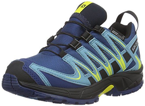 salomon-l37911000-zapatillas-de-trail-running-nino-azul-midnight-blue-blue-gum-corona-yello-32-eu