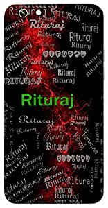 Rituraj (King Of The Seasons) Name & Sign Printed All over customize & Personalized!! Protective back cover for your Smart Phone : Moto E-2 ( 2nd Gen )