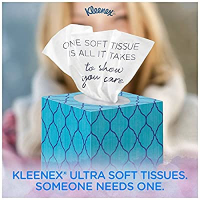 "Kleenex Ultra Soft Facial Tissue UP & UP, 3-Ply, White, 8.2""X 8.4"" , 75/Box, 4 Box/Pack - Packaging May Vary, Assorted color and style boxes"