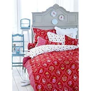 Pip Bettwäsche Pip Bettwäsche Ruby Robin Red 135x200 Cm 80x80 Cm