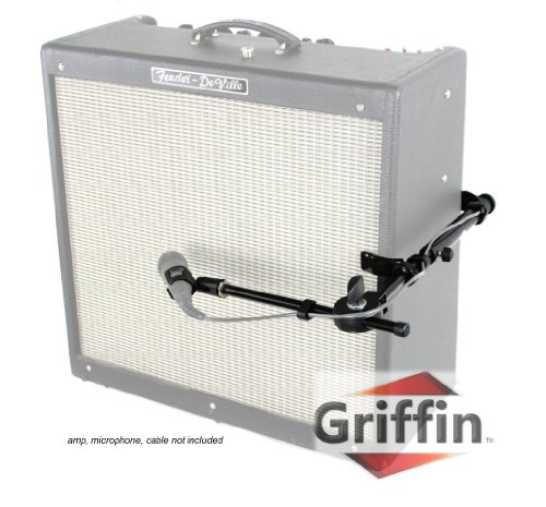 Microphone Guitar Amp Mount Speaker Amplifier Cab Clamp Holder Mic Adaptor By Griffin
