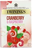 Twinings Cranberry, Raspberry and Elderflower Infusion (Pack of 4, Total 80 Teabags)