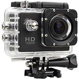 Sunco® 1080P Action Camera Digital Camcorder 12MP 30M Waterproof Sports Camera Motorcycle Helmet Camera HD Video Camera