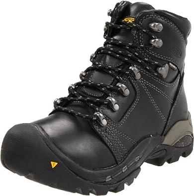KEEN Men's Erickson PCT Waterproof Hiking Boot,Black/Gargoyle,7 M US