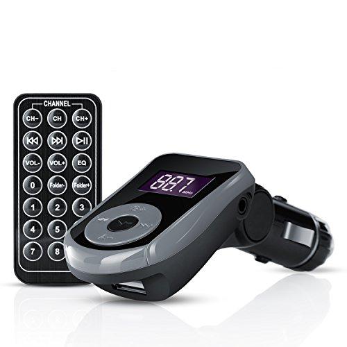 CSL-KFZ-FM-Transmitter-All-in-One-USB-SD-AUX-inkl-Fernbedienung-35mm-Klinkenkabel-USBSDAUX-In-MP3-WMA-Player-1-LCD-Display