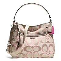 Coach Daisy Optical Signature Metallic Crossover Hobo F23918