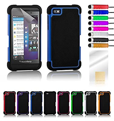 32nd case cover for BlackBerry Z10 mobile phone - Shock proof / Shockproof / Heavy Duty / Tough / Workman / Design / Raindrop / Wet look / Shell / Dual by 32nd