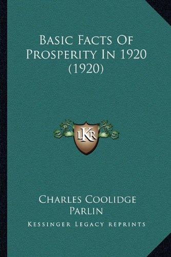 Basic Facts of Prosperity in 1920 (1920)