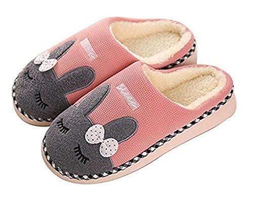 SAGUARO® Donne Uomini Coppia Maglia Mule Calde Pantofole Pantofole di Cotone Fodera in Pelliccia Sintetica