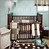 My Baby Sam Mad About Plaid 4 Piece Crib Bedding Set, Blue