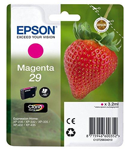 Epson T2983 Tintenpatrone Erdbeere, Claria Home Tinte, Text- und Fotodruck (Singlepack) magenta