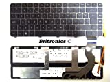 New HP Envy 14 UK Laptop Keyboard 592871-031 NSK-HT3BV Backlit