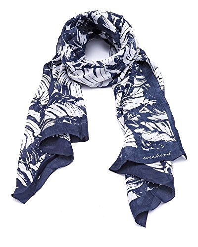 max-mara-weekend-womens-agora-scarf-leaf-print-navy-white-navy-white-n-s