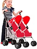 Silver Cross Pop Duo. Twin Dolls Buggy. (Poppy Domino Fabric)