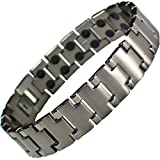 MPS® Double Strength Titanium Magnetic Bracelet with Powerful 3,000 gauss Rare Earth Magnets + Free Gift Wallet #N-BRTD-4-2XL-MJUK