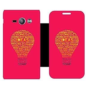 Skintice Designer Flip Cover with hi-res printed Vinyl sticker wrap-around for Samsung Galaxy J1 ACE