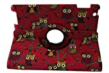 Vapor Enjoy Newly Designed PU Leather Luxury Stylish Slim-Fit Ultra Lightweight 360 Degrees Rotating Night Owl Bird Style Design Series Smart Folio Cover Case Skin with Auto Sleep / Wake Feature For Apple iPad 2 iPad 3 ipad 4, 2nd, 3rd & 4th Generation w