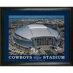 Dallas Cowboys - New Cowboys Stadium Aerial - Lg - Framed Poster Print by Laminated Visuals